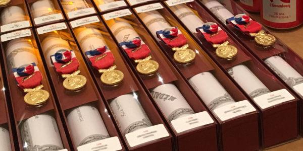 Cérémonie de remise de médailles - Strasbourg